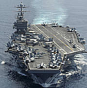 Uss Abraham Lincoln Transits The Indian Art Print