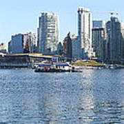 Vancouver Bc Skyline Canada  Place Panorama Canada.  Print by Gino Rigucci