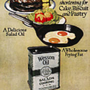 Vegetable Oil Ad, 1918 Art Print
