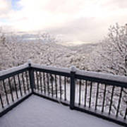 View From A Deck After A Recent Snow Art Print