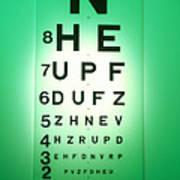 View Of A Snellen Eye Test Chart Art Print