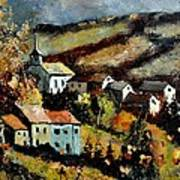 Village In Fall Art Print