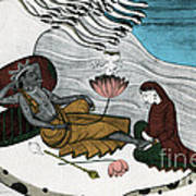Vishnu And Lakshmi Art Print