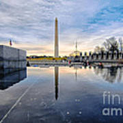 Washington Monument From The World War II Memorial Art Print