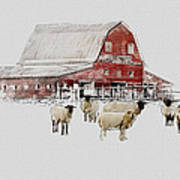 Weatherbury Farm Art Print