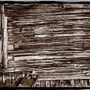Weathered Wall In Bodie Ghost Town Art Print
