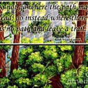 Where The Path Leads Art Print