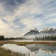 Whitegoat Lake And Mount Elliot Art Print