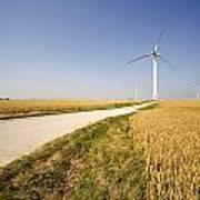 Wind Turbine, Humberside, England Art Print