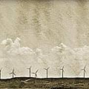 Windmills In A Row Art Print