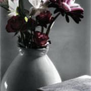 Red Floral Still Life  Art Print