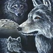 Wolf Trio Art Print