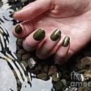 Woman Hand In Water Art Print