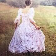Woman In A Meadow Art Print