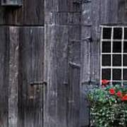 Wooden Building And Window Box Art Print