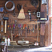 Work Bench And Tools Art Print by Adam Crowley