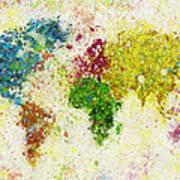World Map Painting Print by Setsiri Silapasuwanchai