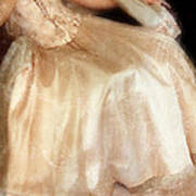 Young Lady Sitting In Satin Gown Print by Jill Battaglia