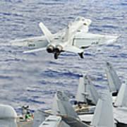 An Fa-18e Super Hornet Launches Art Print