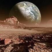 Earth-like Planet, Artwork Art Print