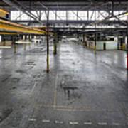 An Empty Industrial Building In Los Art Print