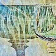 Shadow Of Wine Glass Art Print