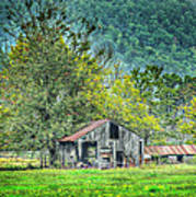1209-1298 - Boxley Valley Barn 2 Art Print by Randy Forrester