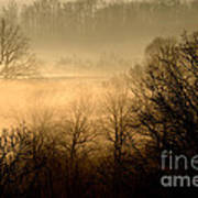 Misty Mountain Sunrise Art Print