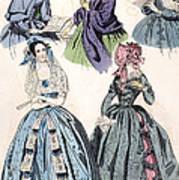 Womens Fashion, 1842 Art Print