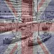 Thames Barges Tower Bridge 2012 Art Print
