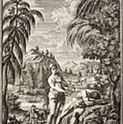 1731 Scheuchzer Creation Adam & Eve Print by Paul D Stewart