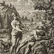 1731 Scheuchzer Creation Adam's Rib & Eve Art Print by Paul D Stewart
