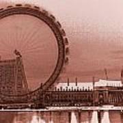 London Eye Art Art Print