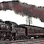 1800's Steam Train Art Print