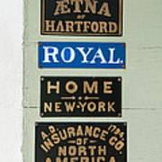 1825 Insurance Agency Art Print