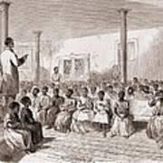 1866 Classroom Of Zion School Art Print