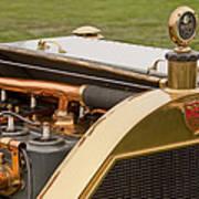 1912 Mercer Model 35 C Raceabout Engine And Motometer Art Print