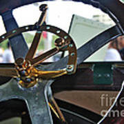 1913 Chalmers - Steering Wheel Art Print