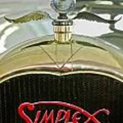 1916 Crane-simplex Model 5 Seven-passenger Touring Hood Ornament Art Print