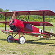 1917 Fokker Dr.1 Triplane Red Barron Canvas Photo Print Poster Art Print