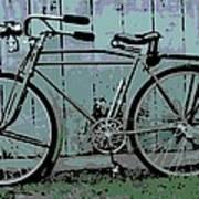 1918 Harley Davidson Bicycle Art Print