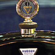 1920 Hudson Super 6 Touring Hood Ornament Art Print