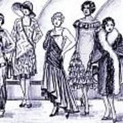 1920s British Fashions Art Print