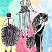 1920s Gals 4 Art Print