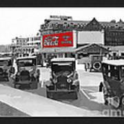 1924 Vintage Automobiles Parked At Atlantic City Art Print