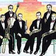 1927 New Yorkers Jazz Band Art Print