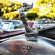 1928 Hudson Super Six Roadster Hood Ornament Art Print