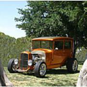 1929 Ford Butter Scorch Orange Art Print by Jack Pumphrey