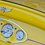 1929 Ford Model A Roadster Dashboard Instruments Art Print