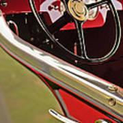 1929 Graham-paige Model 837 Lebaron Sport Phaeton Steering Wheel Art Print
